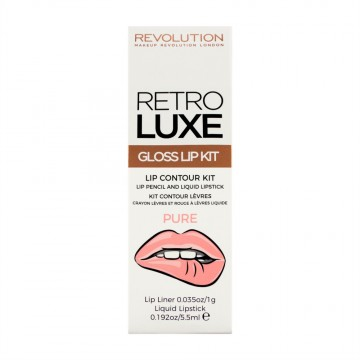 Revolution, Retro Luxe Kits Gloss Pure, sada na rty