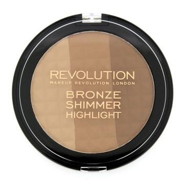 Revolution, Ultra Bronze, shimmer and highlighter, paletka na tvář