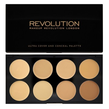 Makeup Revolution Paletka 8 korektorů, odstín Light - Medium