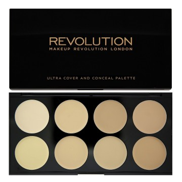 Revolution, Ultra Cover and Concealer Palette Light, paletka korektorů
