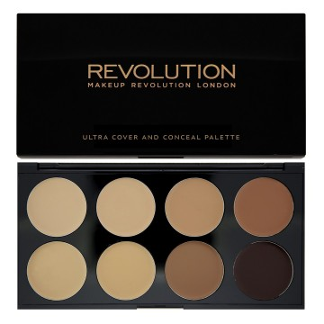 Makeup Revolution Paletka 8 korektorů, odstín Medium - Dark