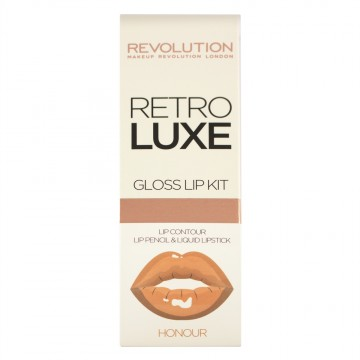 Revolution, Retro Luxe Kits Gloss Honour, sada na rty