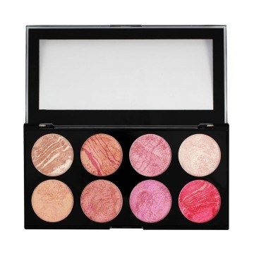 Makeup Revolution Paletka 8 tvářenek Blush Queen