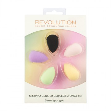 Revolution, Mini Pro Colour Correct Sponge Set, houbička na makeup