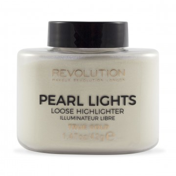 Revolution, Pearl Lights Loose Highlighter True Gold, rozjasňovač